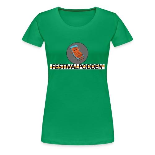 Festivalpodden - Loggorna - Premium-T-shirt dam