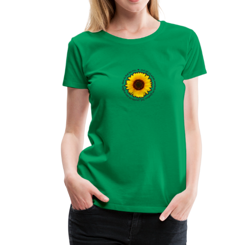 Sonnenblume - Frauen Premium T-Shirt