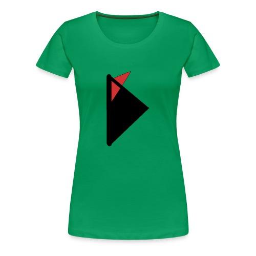 Triangulo con cola. - Camiseta premium mujer