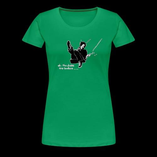 Auf der Schaukel oder oh the chains are broken - Frauen Premium T-Shirt