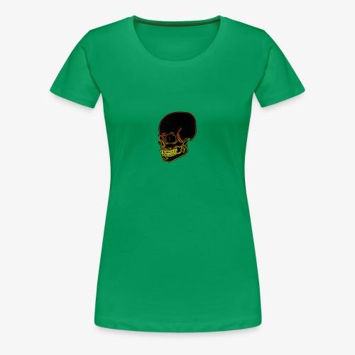 Funky red and yellow neon skull - Women's Premium T-Shirt