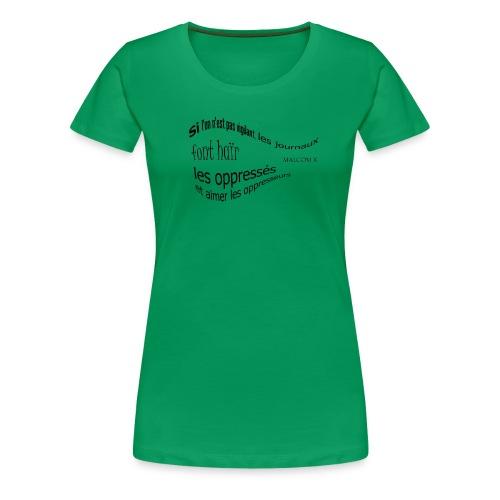 Malcom X - T-shirt Premium Femme