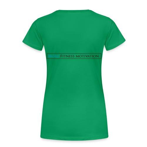 Fitness Motivatie shirt wit/groen - Women's Premium T-Shirt