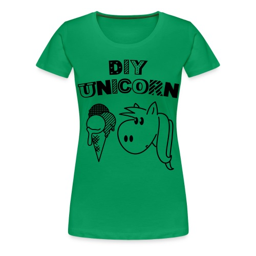 DIY Unicorn Einhorn - Frauen Premium T-Shirt