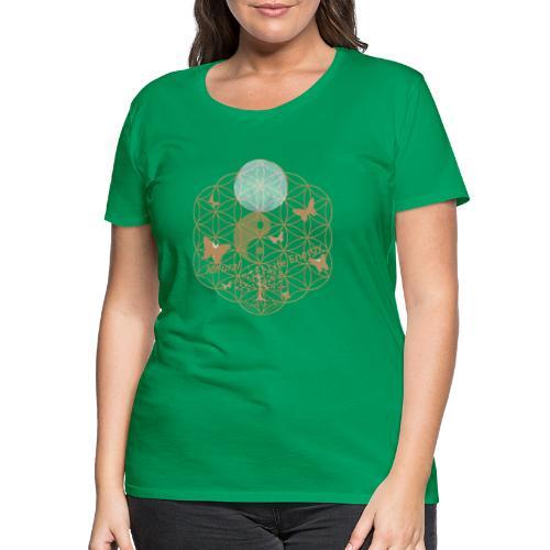 Das Leben umgeben von Energie. Blume des Lebens. - Frauen Premium T-Shirt