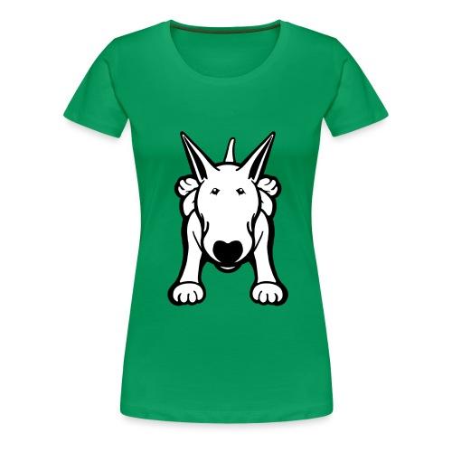 Bull Terrier Sprawl Design Tee - Women's Premium T-Shirt