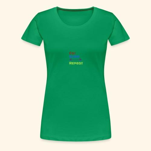 Eat Sleep Lift Repeat Sport gym fitness Shirt - Frauen Premium T-Shirt