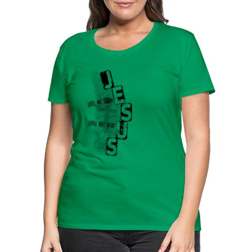 Jesus yes he can schwarz - Frauen Premium T-Shirt