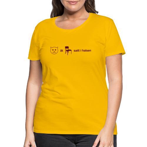 Katt åt stol - Premium-T-shirt dam