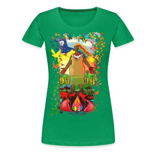 Mother Earth Creating - Vrouwen Premium T-shirt