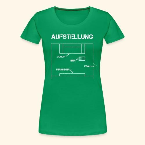 Fussball Aufstellung Weltmeisterschaft Geschenk - Frauen Premium T-Shirt
