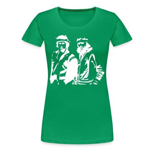 Borg McEnroe Retro Green+White - Naisten premium t-paita