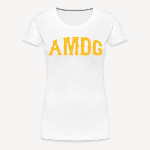 AMDG AD MAJOREM DEI GLORIAM - Women's Premium T-Shirt