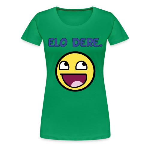 DERE lolface finish black fixed gif - Women's Premium T-Shirt
