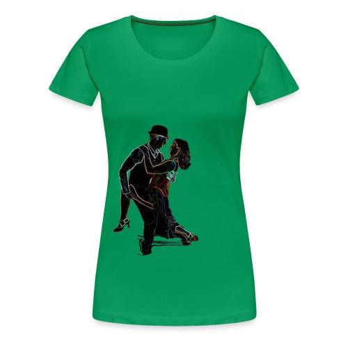 It Takes Two - Neon Tango Couple - Women's Premium T-Shirt