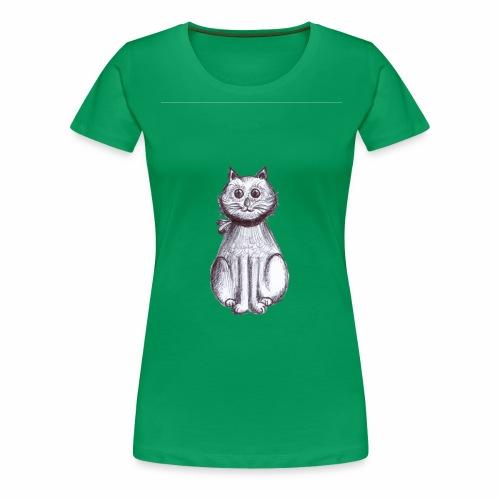 Gattino seduto - Maglietta Premium da donna