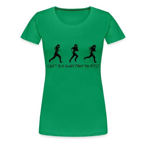 Can't run away - black - Premium-T-shirt dam