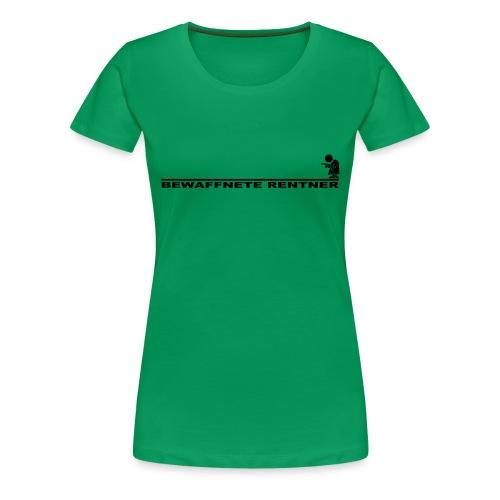 Rentner mit Linie schwarz png - Frauen Premium T-Shirt