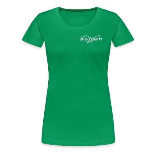 brystlogo vektorisert - Premium T-skjorte for kvinner