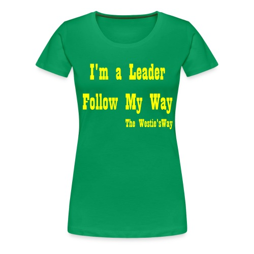 Follow My Way Yellow - Koszulka damska Premium