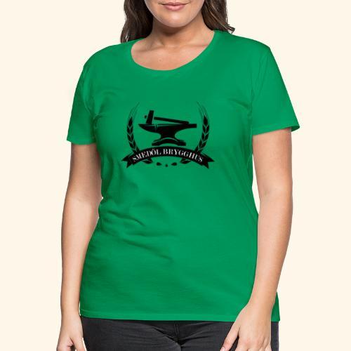 Smedöl Brygghus Logga Svart - Premium-T-shirt dam
