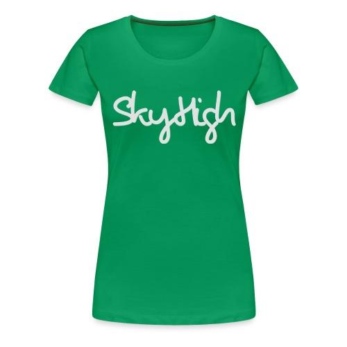 SkyHigh - Women's Hoodie - Gray Lettering - Women's Premium T-Shirt
