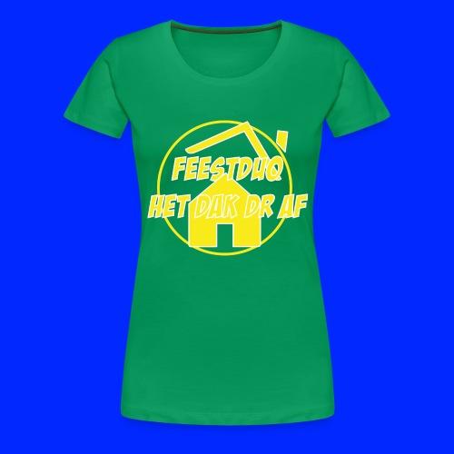 Geel Logo - Vrouwen Premium T-shirt