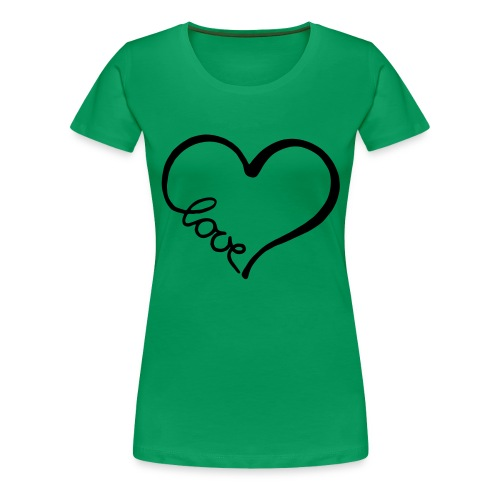 love heart 2 - Women's Premium T-Shirt
