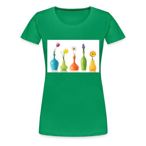 bloempotje - Vrouwen Premium T-shirt