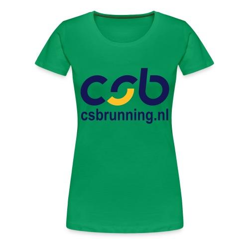 logo csb nieuw 2017 csbrunning - Vrouwen Premium T-shirt