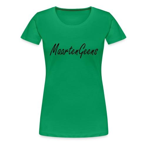 MaartenGeens Zwart - Vrouwen Premium T-shirt