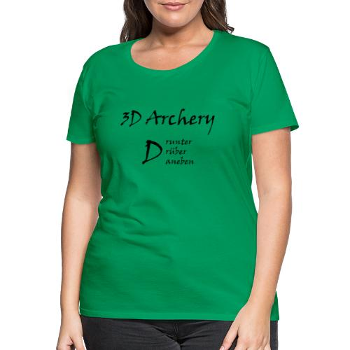 3D Archery black - Frauen Premium T-Shirt