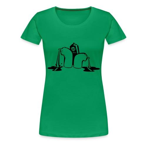 puking spray cans - Vrouwen Premium T-shirt