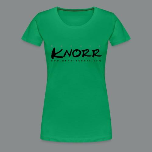 DennisKnorr_Log_sw - Frauen Premium T-Shirt
