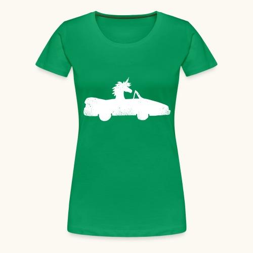 Cadeau de permis de conduire drôle de voiture de la Licorne convertible - T-shirt Premium Femme