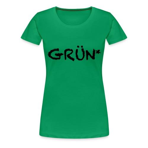 GRÜN Vektor - Frauen Premium T-Shirt