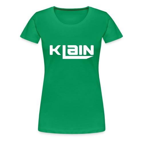 klain krus (Hvidt logo) - Dame premium T-shirt
