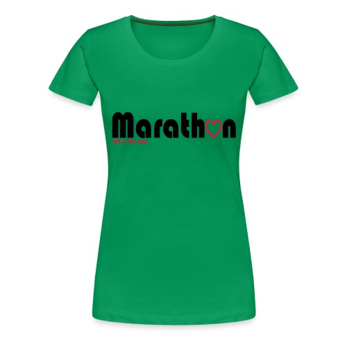 I love marathons - Frauen Premium T-Shirt