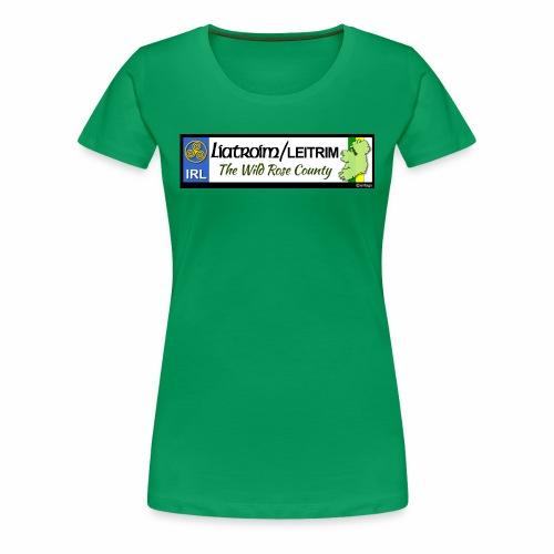 LEITRIM, IRELAND: licence plate tag style decal eu - Women's Premium T-Shirt