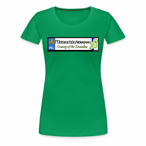 MONAGHAN, IRELAND: licence plate tag style decal - Women's Premium T-Shirt