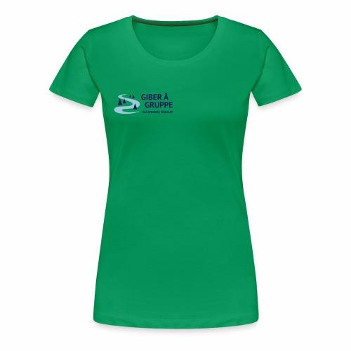 Lille logo forside - Dame premium T-shirt