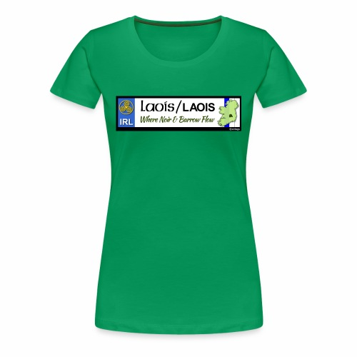 LAOIS, IRELAND: licence plate tag style decal eu - Women's Premium T-Shirt