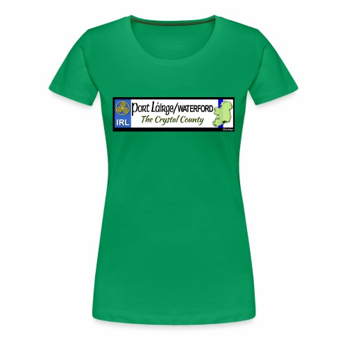 WATERFORD, IRELAND: licence plate tag style decal - Women's Premium T-Shirt