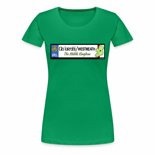WESTMEATH, IRELAND: licence plate tag style decal - Women's Premium T-Shirt