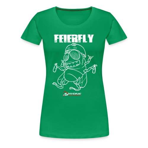 feierfly_transparent_weiß - Frauen Premium T-Shirt