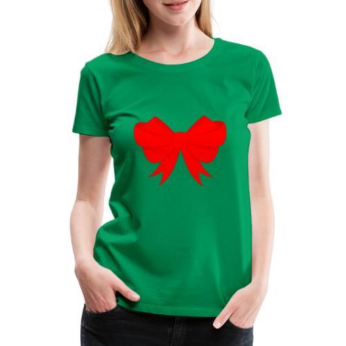Schleife, Weihnachts Geschenk, Marry Christmas - Frauen Premium T-Shirt