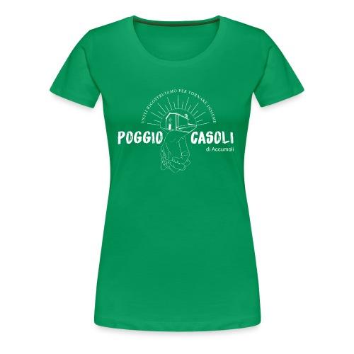 Poggio Casoli_Istituzionale_Bianco - Maglietta Premium da donna