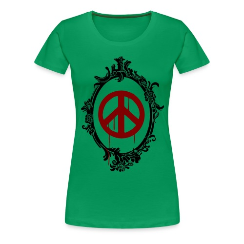 peacetransparent 2 - Frauen Premium T-Shirt