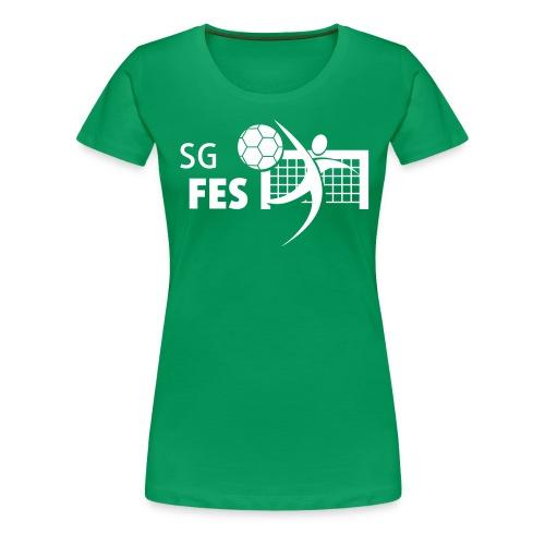 fes logo weiss druck - Frauen Premium T-Shirt