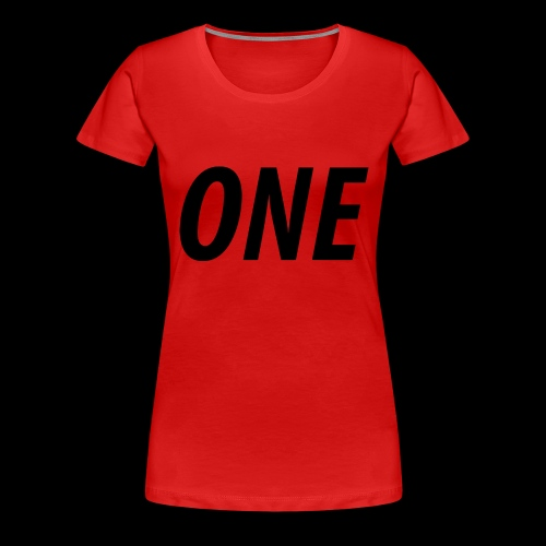 WEAREONE x LETTERS - Vrouwen Premium T-shirt